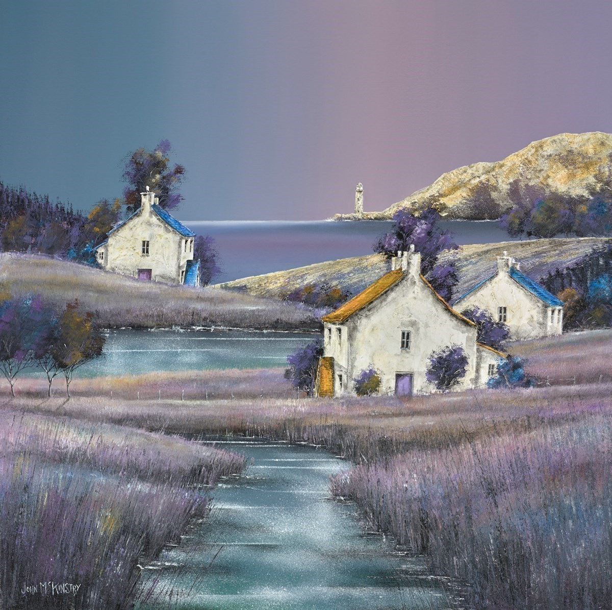 Lighthouse Calm by John Mckinstry -  sized 24x24 inches. Available from Whitewall Galleries